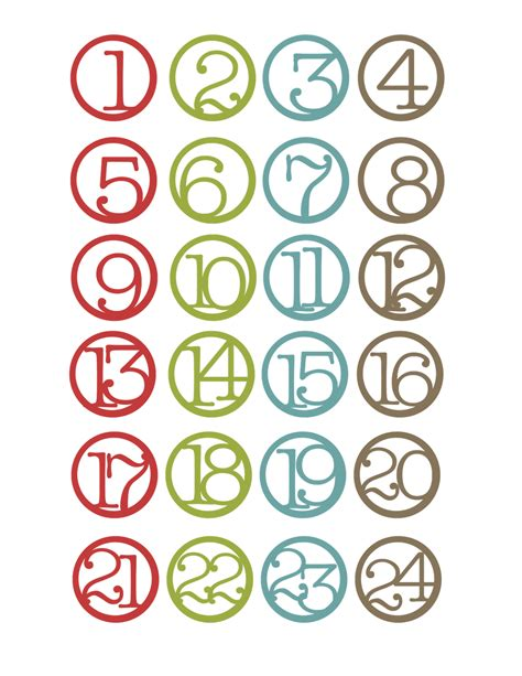 printable numbers 1 20 christmas 7 best images of printable christmas numbers 1 30 free