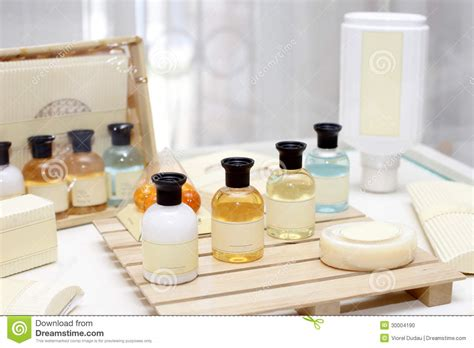 Bath And Shower Kit hotel amenities stock photo image of travel toiletry