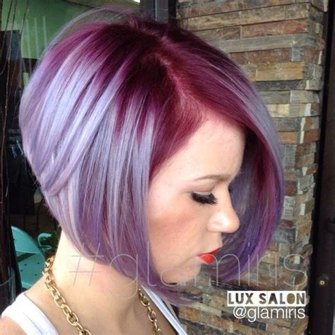plumb colour hairstyles wild orchid roots melting into a steel blue and silver