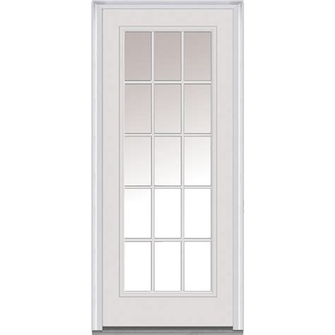 30 Exterior Door With Window Doorbuild Clear Glass Collection Fiberglass Smooth Prehung Entry Door Primed 30 Quot X80 Quot