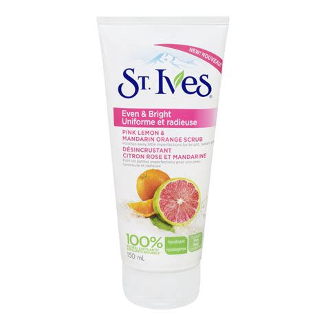 St Ives Even And Bright Pink Lemon And Mandarin Orange Wash 24oz st ives even bright pink lemon mandarin orange scrub reviews in exfoliators