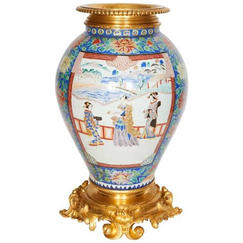louis xv style ormolu mounted porcelain vase for