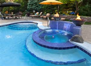 Custom Chaise Cushions Pool Tile Ideas Pool Traditional With Blue Mosaic Tile