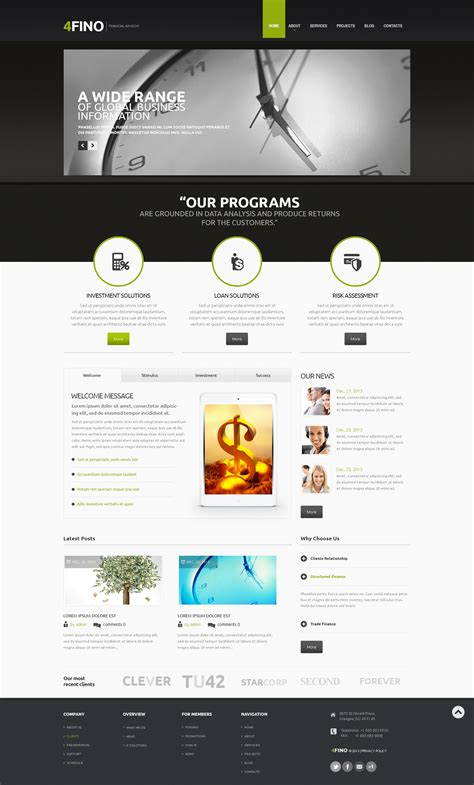 drupal themes live demo financial advisor drupal template 47429