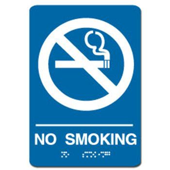 no smoking sign blue blue no smoking ada sign