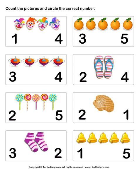 Worksheets For Pre K by Number Matching Worksheet 6 Preschool Math