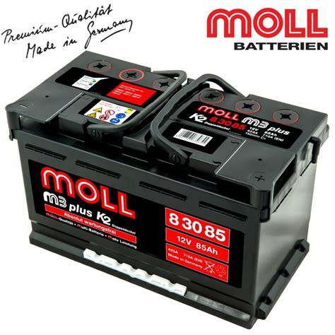 Auto Moll by Baterie Auto Moll M3 Plus K2 83085 85ah Baterii Auto
