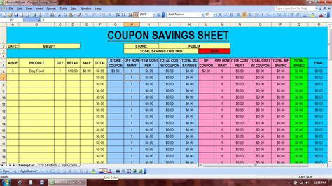 Welcome To Excelville Coupon Excel Spreadsheet Template