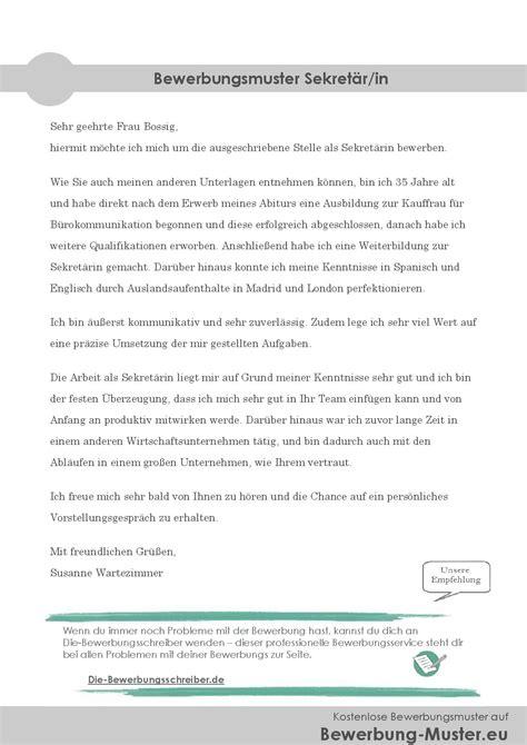 Bewerbungbchreiben Muster Zimmermann Kostenloses Bewerbungsmuster Sekret 228 R Sekret 228 R In