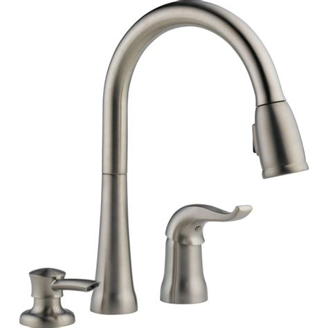 Builders Warehouse Kitchen Taps by Delta 16970 Sd Dst Single Handle Pull Kitchen Faucet