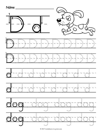 printable tracing letter d tracing the letter d popflyboys