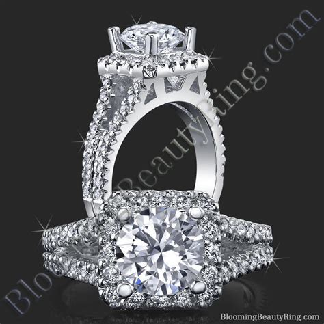 square halo split engagement ring bbr502