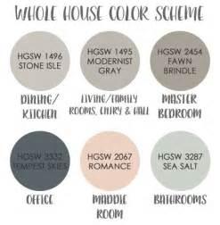 whole house color palette 1000 ideas about pink paint colors on pinterest paint