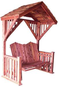 cedar covered garden swing bench seat wood outdoor glider