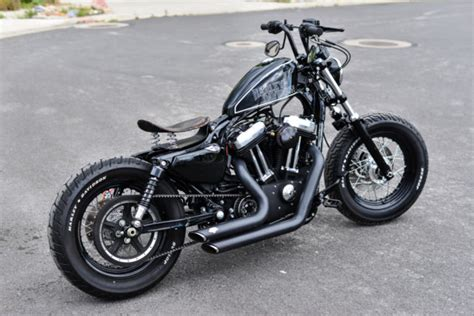by brock cardiner harley forty eight custom motorcycle by rough crafts 2013 harley davidson custom forty eight bobber
