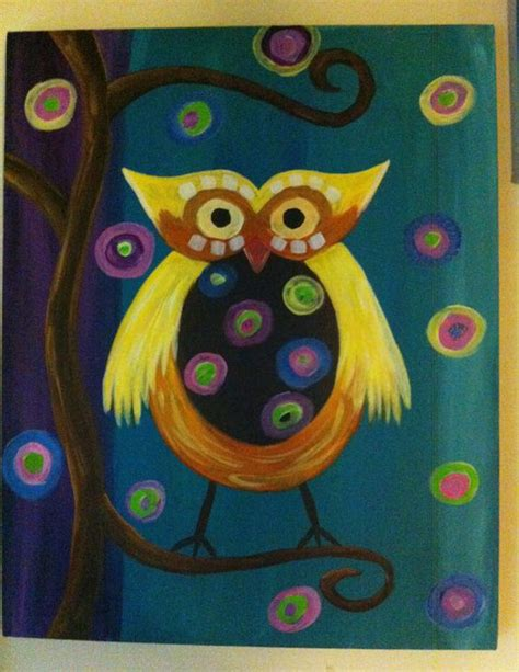 acrylic painting ideas owls acrylic painting quot funky owl quot 16 x 20 on canvas 40 can do