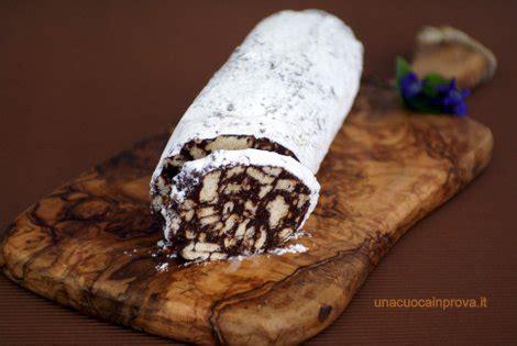 dolci fatti in casa semplici salame al cioccolato senza uova dolci semplici fatti in