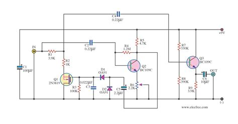transistor lifier filter audio noise filter circuits electronic projects circuits