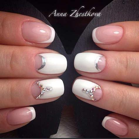 wedding toe nail art design white on white french pedicure 31 elegant wedding nail art designs page 3 of 3 stayglam