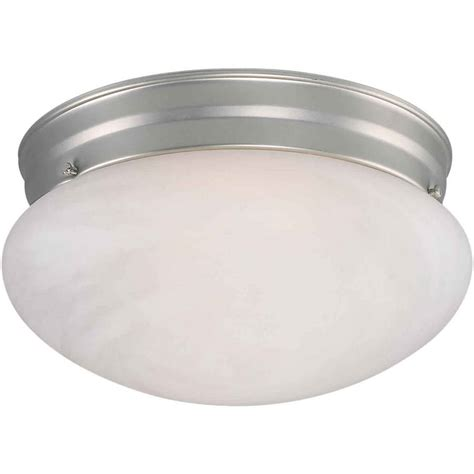shop 9 5 in w brushed nickel ceiling flush mount light at