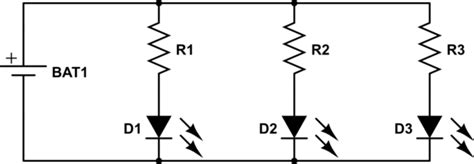 resistors for leds in parallel connecting resistor in led parallel circuit electrical engineering stack exchange