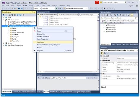 tutorialspoint entity framework entity framework table valued function