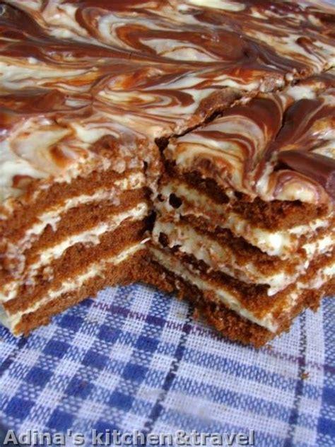 Kremes Gelas Original prajitura cu foi pandispan crema aromata si ciocolata