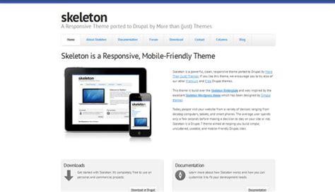 skeleton responsive template 20 free responsive drupal themes designmaz