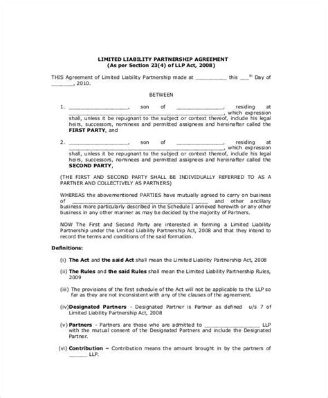 general partnership agreement    word documents   premium templates