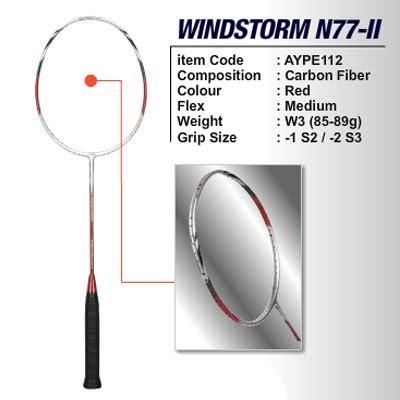 Raket Li Ning Windstorm N77 Ii li ning racket windstorm n77 ii sport sarko