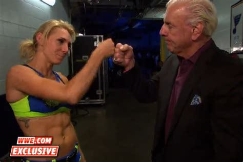 charlotte flair vs rousey ric flair promoting charlotte vs ronda rousey and other