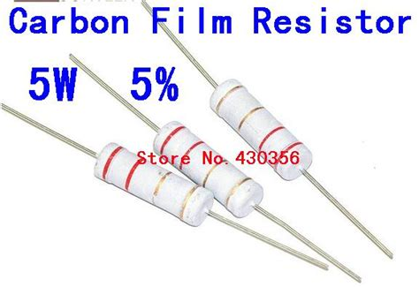 360 ohm resistor 10pcs 5w carbon resistor 5w 5 360 ohm 360r free shipping in resistors from electronic
