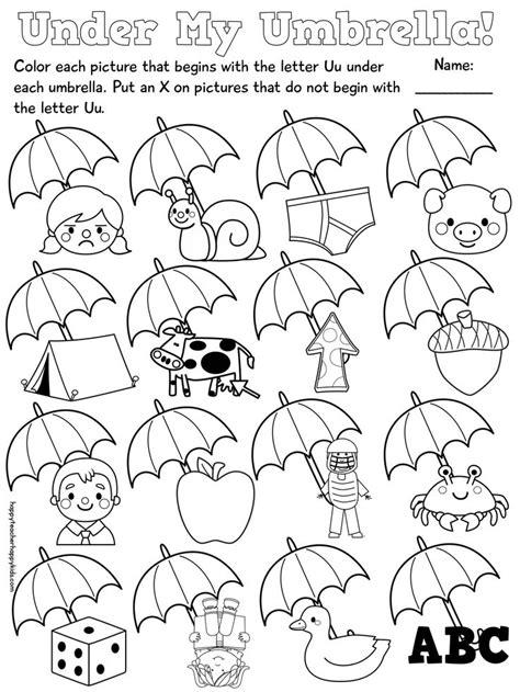 kindergarten activities letter u 13 best images of worksheets for kindergarten c words 3
