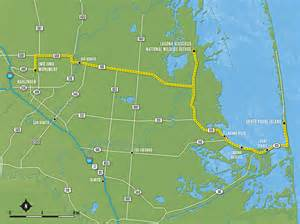 map of padre island harlingen to south padre island tx 508 tx 106 tx 510