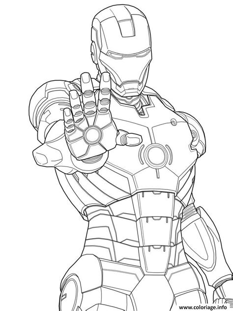 easy iron man coloring page coloriage iron man 3 marvel mode defense dessin