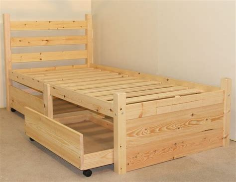 Pine Bed Frame Plans Best 25 Single Beds With Storage Ideas On Pinterest Bed With Storage Bed With