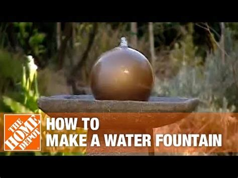 create  disappearing water fountain  home