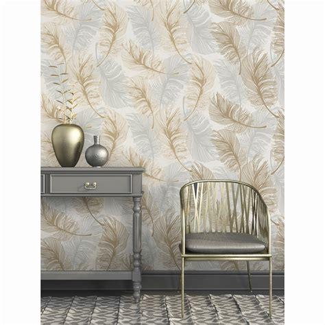 gold wallpaper b and m plume foil wallpaper gold silver diy b m