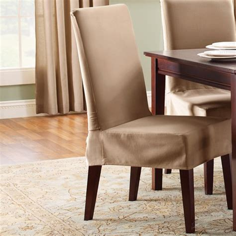 fitted dining room chair covers sure fit cotton duck short dining room chair cotton duck dining room chair covers