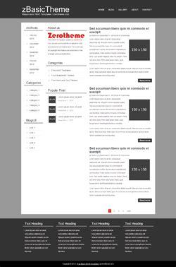 Free Basic Responsive Html5 Themes Zerotheme Basic Responsive Html Template