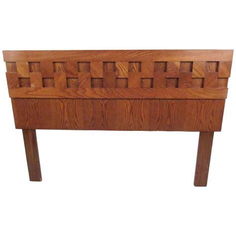 oak queen headboard vintage modern oak queen headboard for sale at 1stdibs