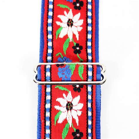 flower pattern guitar strap souldier quot edelweiss quot blue white flower pattern 2 quot reverb