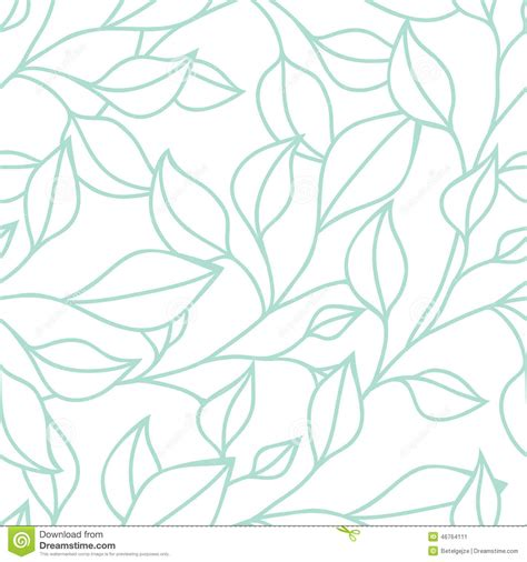leaf pattern vector background floral seamless pattern with green leaf vector background