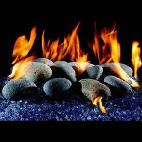 Rocks For Gas Fireplace by And River Rock Vented Gas Northshore Fireplace