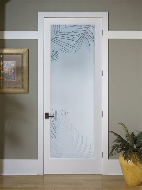Decorative Interior Glass Doors Mazatlan Decorative Glass Interior Door Tropical Sacramento By Homestory Easy Door