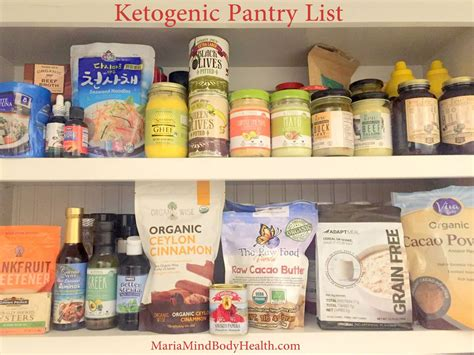 despensa keto ketogenic pantry list