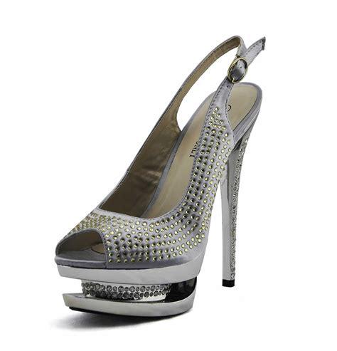 wholesale silver platform high heel shoes