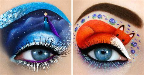 imagenes de ojos con orzuelos esta chica usa sus ojos como lienzo para crear obras de arte