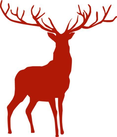 beautiful reindeer silhouette free clip arts online