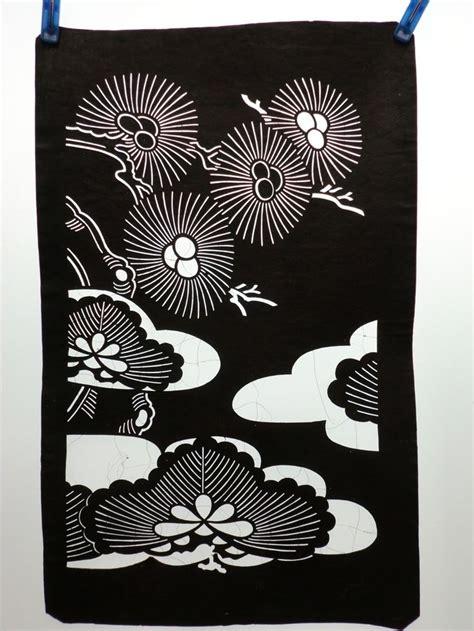 Kimono Pattern Stencil | is785 japanese ise katagami kimono stencil pattern print